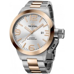 TW Steel Mens Two Tone Bracelet Watch TWCB121