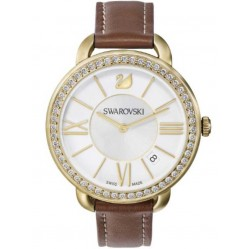 Swarovski Ladies Aila Gold Plated Strap Watch 5095940