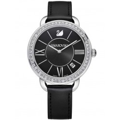Swarovski Ladies Aila Day Black Strap Watch 5172151