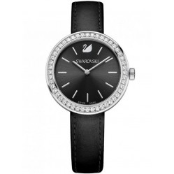 Swarovski Ladies Daytime Black Strap Watch 5172176