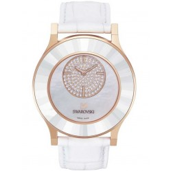 Swarovski Ladies Octea Classica White Strap Watch 5095482