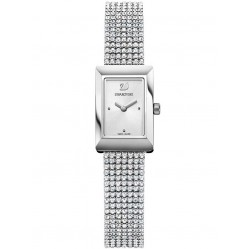 Swarovski Memories Silver Tone Fabric Watch 5209187