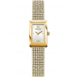 Swarovski Memories Gold Plated Crystal Fabric Watch 5209181