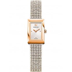 Swarovski Memories Rose Gold Plated Crystal Fabric Watch 5209184