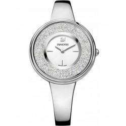 Swarovski Crystalline Pure Silver Tone White Bracelet Watch 5269256