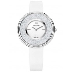 Swarovski Crystalline Pure Silver Tone White Strap Watch 5275046