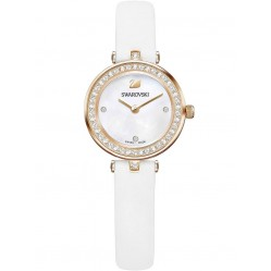 Swarovski Ladies Aila Dressy White Strap Watch 5376651