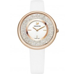 Swarovski Crystalline Pure Rose Gold Tone White Strap Watch 5376083