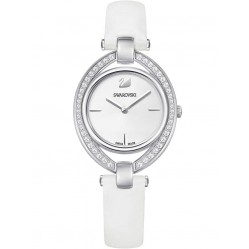 Swarovski Ladies Stella White Strap Watch 5376812