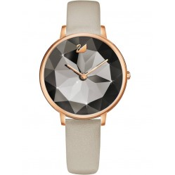 Swarovski Ladies Crystal Lake Rose Gold Plated Taupe Watch 5415996