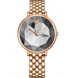 Swarovski Ladies Crystal Lake Rose Gold Plated Grey Watch 5416023