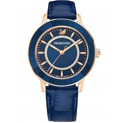Swarovski Ladies Octea Lux Rose Gold Plated Blue Watch 5414413
