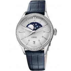 Oris Ladies Blue Artelier Grande Watch 763 7723 4951-07 LS