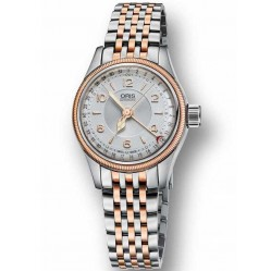 Oris Ladies Big Crown Pointer Date Two Tone Bracelet Watch 594 7695 4361-07B