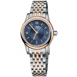 Oris Ladies Classic Two Tone Automatic Bracelet Watch 561 7650 4335-07B