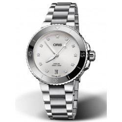 Oris Ladies Aquis Diamond Date Watch 7731 4191-07-MB