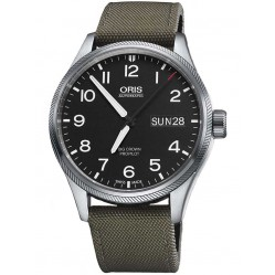 Oris Mens Big Crown ProPilot Big Day Date Grey Fabric Strap Watch 752 7698 4164-07 5 22 14