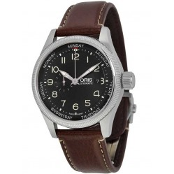 Oris Mens Big Crown Strap Watch 745 7688 4034-07LS