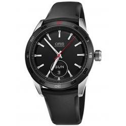 Oris Artix GT Day Date Stainless Steel Black Strap Watch 735 7662 4424-07 4 21 26