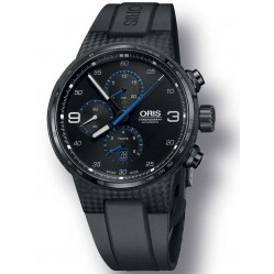 Oris Williams Chronograph Carbon Fibre Extreme Black Strap Watch 674 7725 8764-07 4 24 50