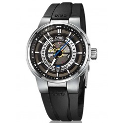 Oris Mens Williams Automatic Skeleton Strap Watch 733 7740 4154-07 RS