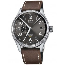 Oris Mens Big Crown ProPilot Brown Strap Watch 748 7710 4063-07LS