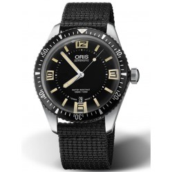 Oris Mens Divers Sixty-Five Black Fabric Strap Watch 01 733 7707 4064-07 5 20 24