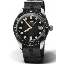 Oris Mens Divers Sixty-Five Black Fabric Strap Watch 01 733 7720 4054-07 5 21 26FC