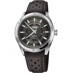 Oris Mens Artix GT Day Date Brown Leather Strap Watch 735 7751 4153-07 5 21 09FC