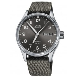 Oris Mens Big Crown ProPilot Big Day Date Grey Fabric Strap Watch 752 7698 4164-07 5 22 17FC