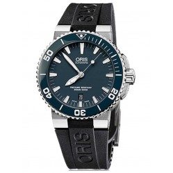 Oris Mens Aquis Automatic Strap Watch 73376534155BW