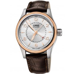 Oris Mens Big Crown Strap Watch 754 7679 4361-07B
