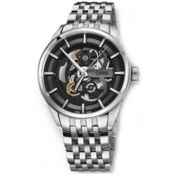 Oris Artix Skeleton Stainless Steel Bracelet Watch 734 7714 4054-07 8 19 80