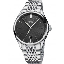 Oris Mens Artelier Automatic Bracelet Watch 733 7721 4053-07B