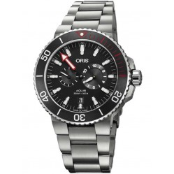 Oris Mens Aquis Regulator Der Meistertaucher Titanium Bracelet Watch 749 7734 7154-SET