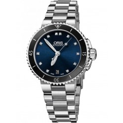 Oris Ladies Aquis Diamond Date Bracelet Watch 733 7731 4195-07 MB