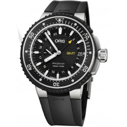 Oris Mens ProDiver GMT Black Titanium Bracelet Watch 748 7748 7154-07 MB