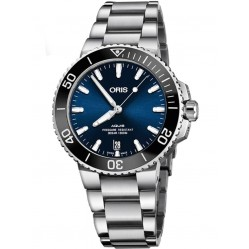 Oris Mens Aquis Date Blue Automatic Bracelet Watch 733 7732 4135-07 MB