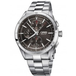 Oris Mens Artix GT Chronograph Date Grey Bracelet Watch 774 7750 4153-07 8 22 87