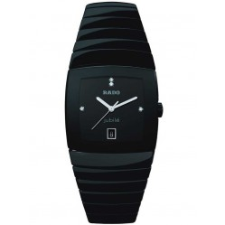 Rado Mens Sinatra XXL Diamond Black Ceramic Bracelet Watch R13723702