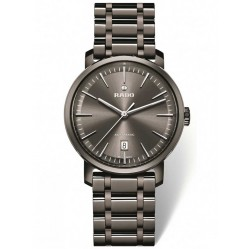 Rado Mens DiaMaster Automatic Grey Ceramic Bracelet Watch R14074112 XL