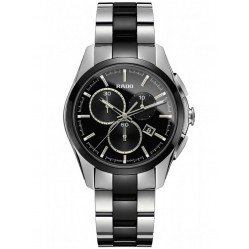 Rado Mens HyperChrome Quartz Chronograph Black Ceramic and Steel Bracelet Watch R32038152 L