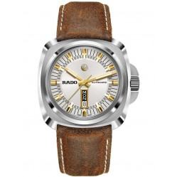 Rado Mens HyperChrome Automatic Day Date Brown Leather Strap Watch R32172015 XL