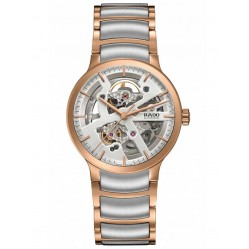 Rado Mens Centrix Two Tone Automatic Skeleton Bracelet Watch R30181103