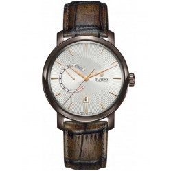 Rado Mens Diamaster Automatic Brown Leather Strap Watch R14140026