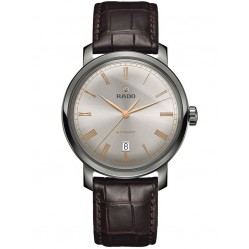 Rado Mens DiaMaster Automatic Two Colour Dial Brown Leather Strap Watch R14806106