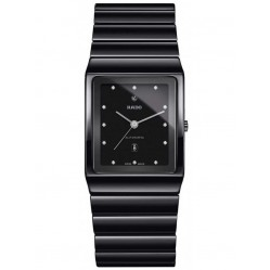 Rado Mens Ceramica Diamonds Automatic Black Ceramic Bracelet Watch R21807702