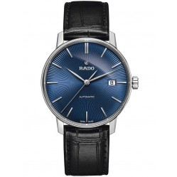 Rado Mens Blue Black Leather Strap Watch R22860205