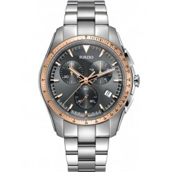 Rado Mens HyperChrome Quartz Chronograph Grey Ceramic and Steel Bracelet Watch R32259163