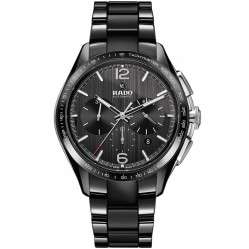 Rado Mens Hyperchrome Black Ceramic Bracelet Watch R32121152